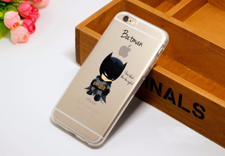 Cute Chibi Batman Soft Transparent iPhone X 8 Plus 7 6s Case - Superheroes Gears