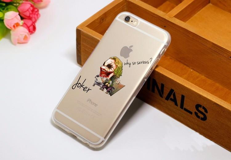 Cute Chibi Joker Soft Transparent iPhone X 8 Plus 7 6s Case - Superheroes Gears