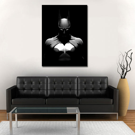 DC Batman Lurking In The Shadows Cool Black Suit 1pc Canvas
