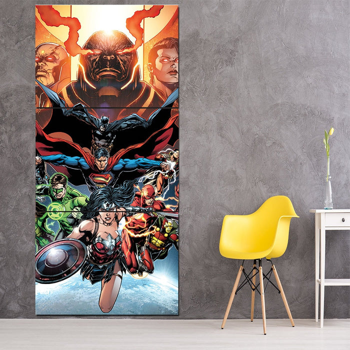 DC Comic Astonishing Justice League 3pcs Canvas Print