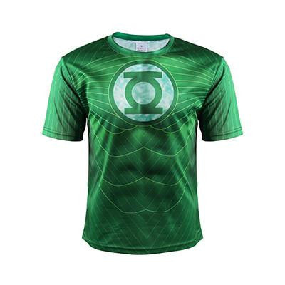 DC Comic Green Lantern Superhero Cool Classic 3D Fitness T-shirt