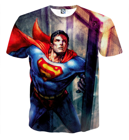 DC Comics American Superhero Superman Full Print T-Shirt
