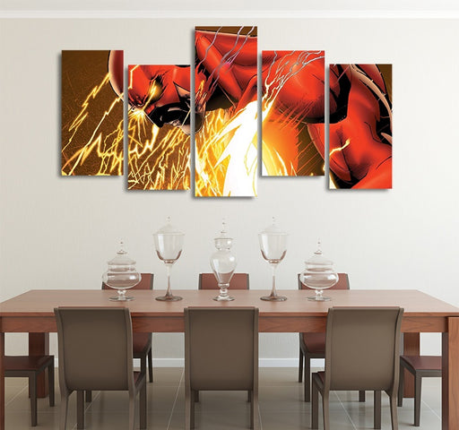DC Comics Angry Barry Allen Adult Flash 5pcs Canvas Print