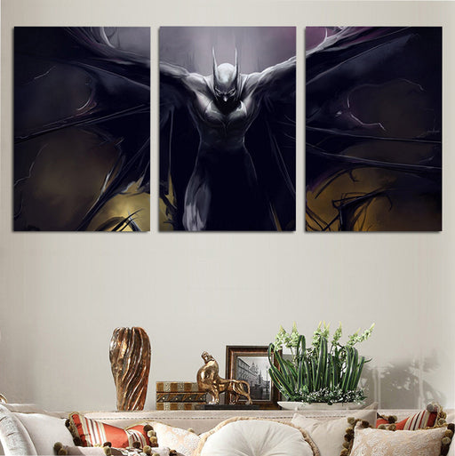 DC Comics Batman Spreading Cape 3pcs Wall Art Canvas Print