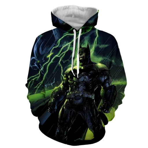 DC Comics Batman The Dark Knight Thunderlight Hoodie - Superheroes Gears
