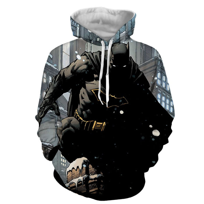 DC Comics Brave Batman The Dark Knight Full Print Hoodie - Superheroes Gears