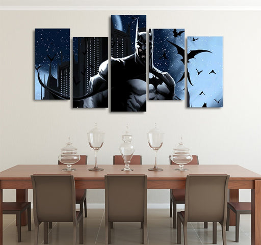 DC Comics Bruce Wayne Batman The Dark Knight 5pcs Canvas Art