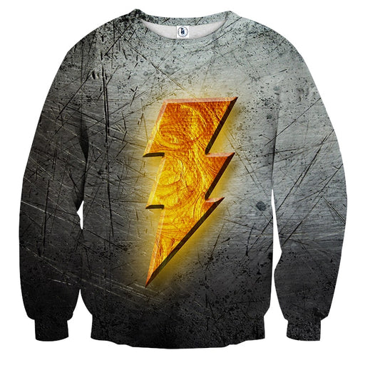 DC Comics Captain Marvel Shazam! Logo Cool 3D Print Sweatshirt