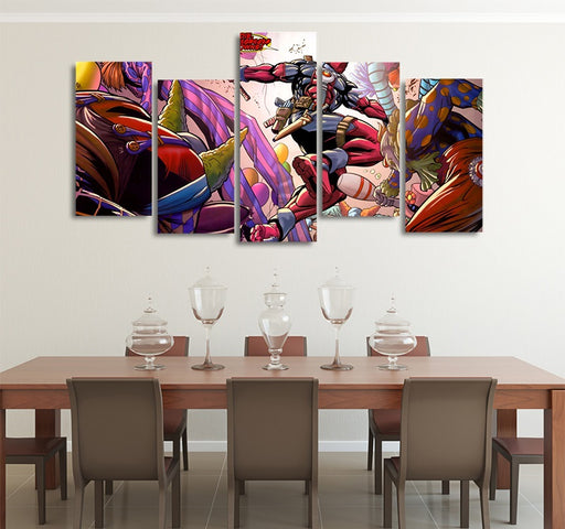 DC Comics Deadpool Vs The Killing Clowns 5pcs Canvas Print
