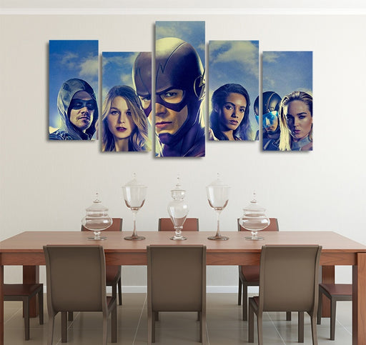DC Comics Elseworlds Superheroes 5pcs Wall Art Canvas Print