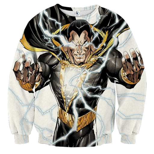 DC Comics Epic Godly Captain Marvel Shazam White Sweatshirt