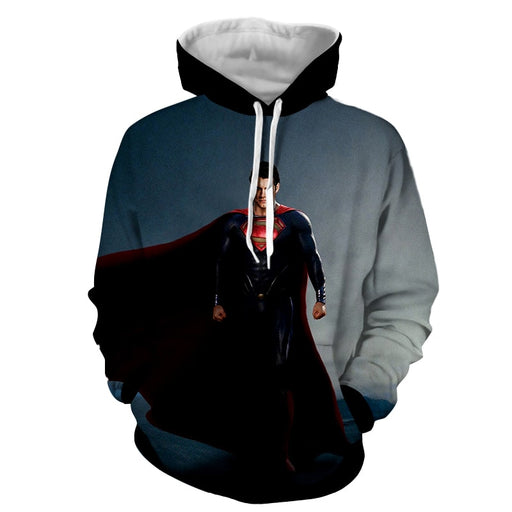 DC Comics Fierce Superman Design Full Print Hoodie