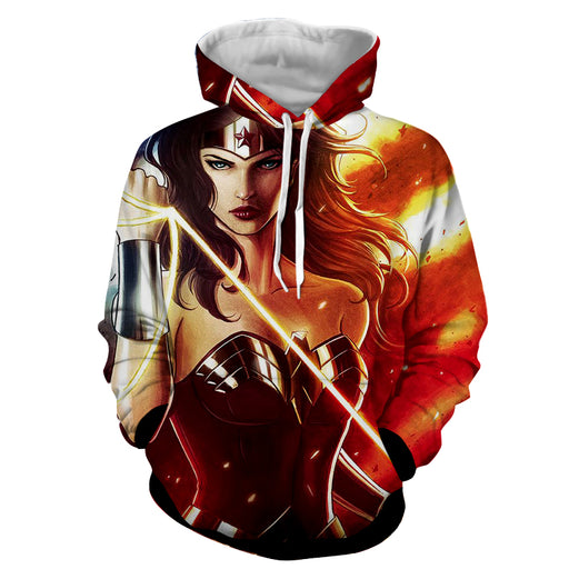 DC Comics Fierce Wonder Woman Golden Lasso Amazing Hoodie