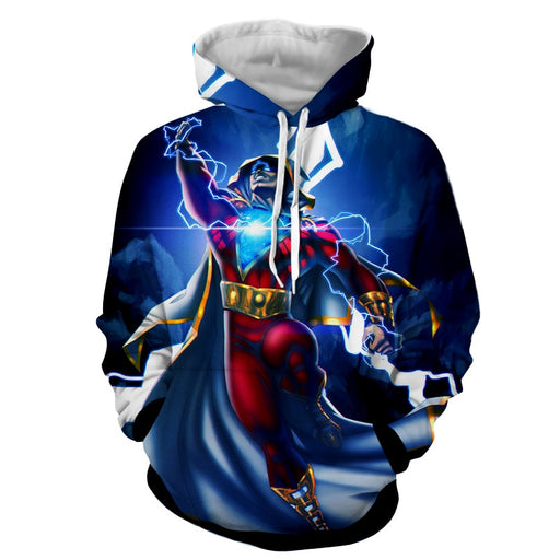 DC Comics Flying Captain Marvel Shazam Modern Blue Hoodie