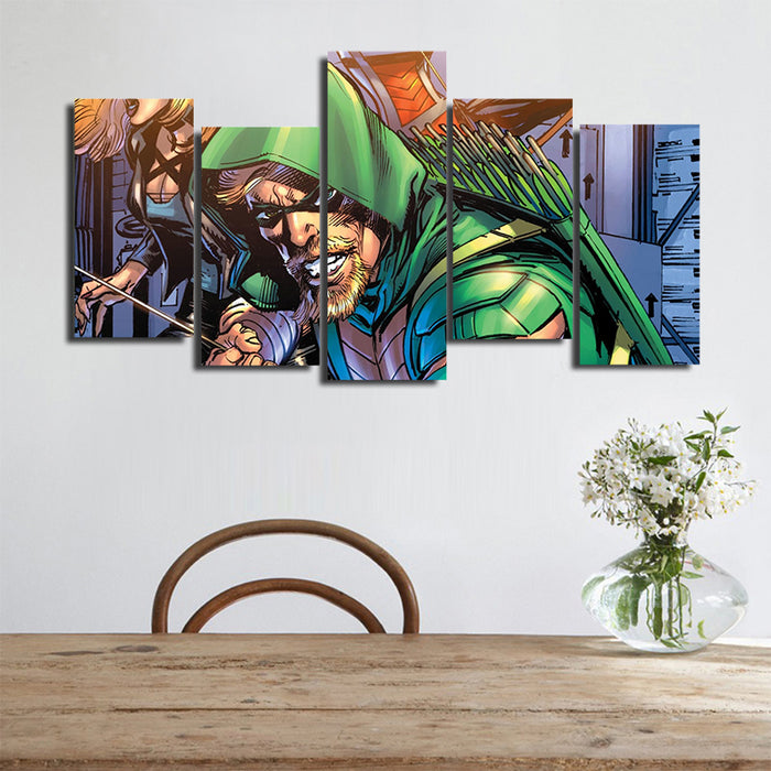 DC Comics Green Arrow Dressed Like Robin Hood 5pcs Canvas