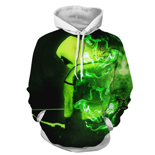 DC Comics Green Arrow Majestic Design Green Vibrant Hoodie