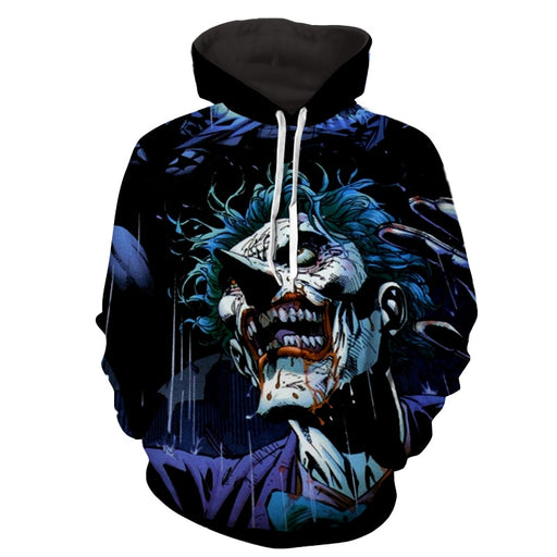 DC Comics Joker Afraid With Batman Design Full Print Hoodie