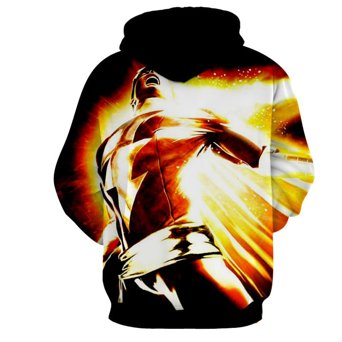 DC Comics Mightiest Mortal Shazam Epic Print Hoodie