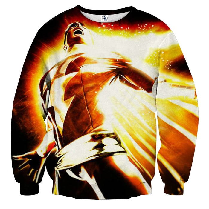 DC Comics Mightiest Mortal Shazam Epic Print Sweatshirt