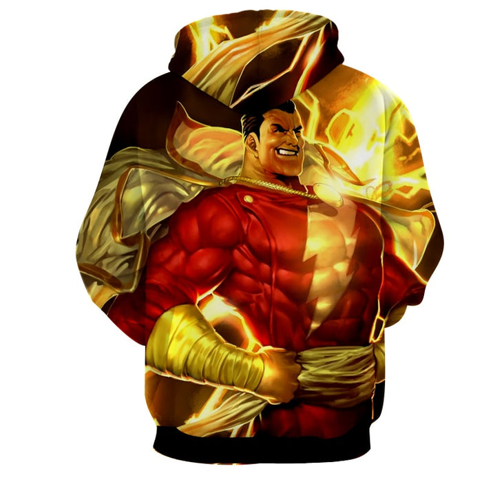 DC Comics Powerful Captain Marvel Shazam Golden Hoodie