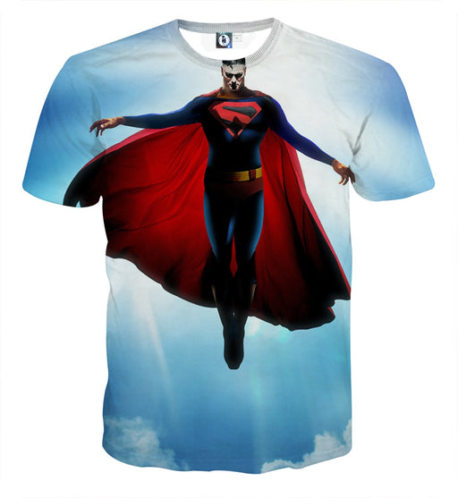 DC Comics Superman In the Sky Design Full Print T-Shirt