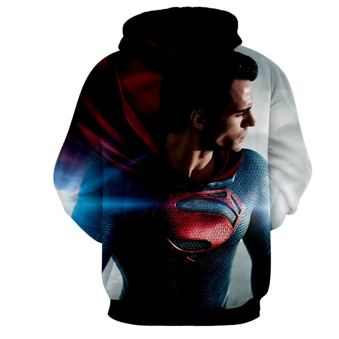 DC Comics Superman Side View Design Full Print Hoodie
