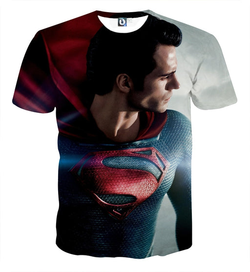 DC Comics Superman Side View Design Full Print T-Shirt