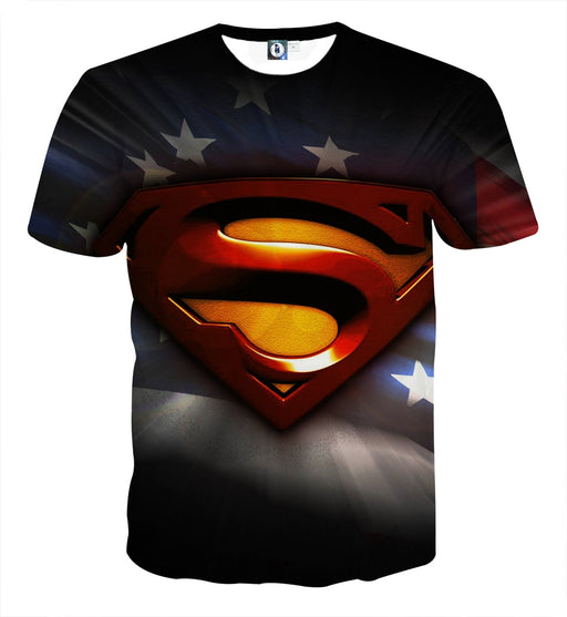 DC Comics Superman Signature Design Full Print T-Shirt