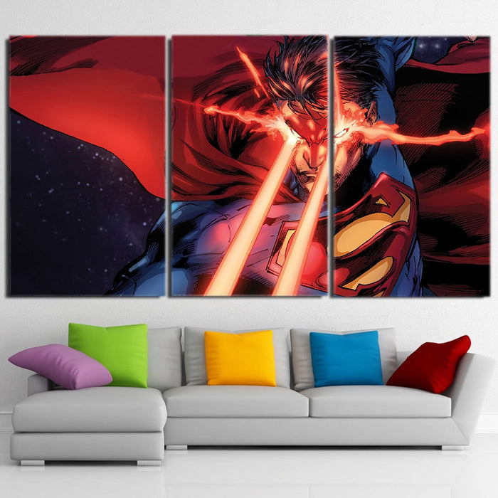 Wall Art Canvas Picture Print of DC Comic Superman  Framed  Ready to Hang