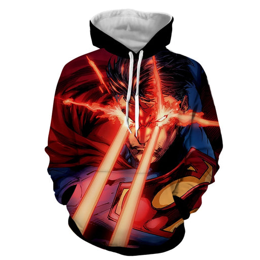 DC Comics Superman Super Power Design Full Print Hoodie