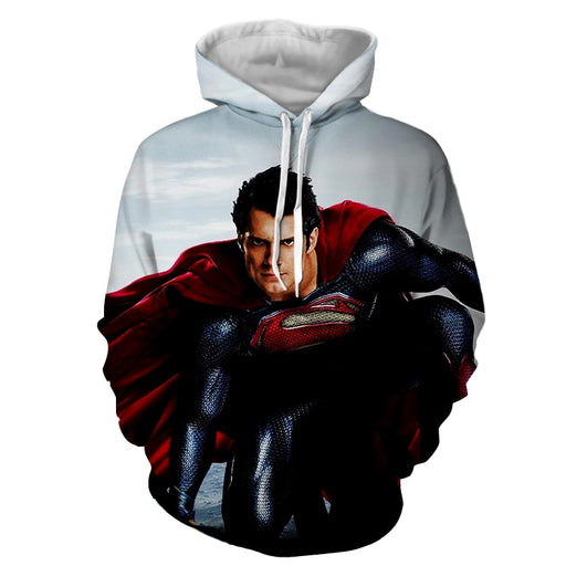 DC Comics The Good-Looking Superman Design Full Print Hoodie