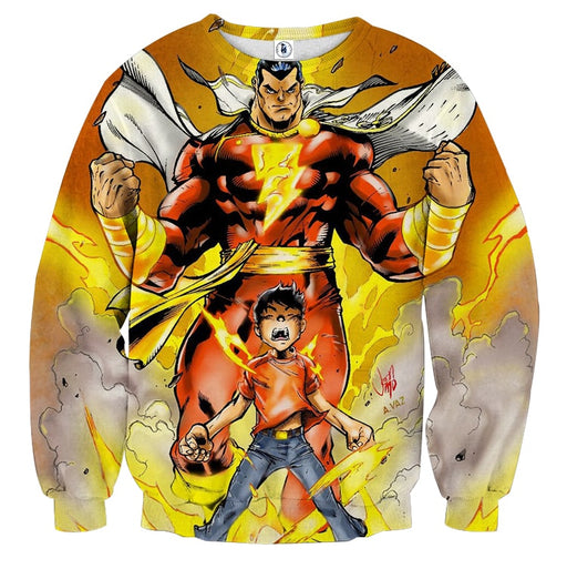 DC Comics Young Billy Shazam Magical Transformation Sweatshirt