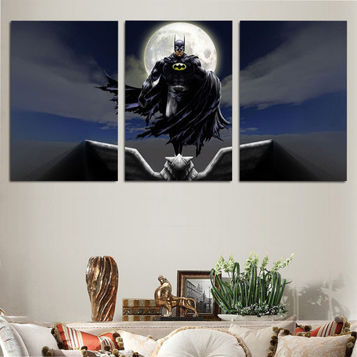 DC Dope Cartoonized Batman The Dark Knight 3pcs Canvas Print