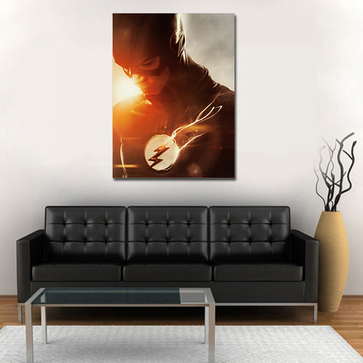DC Flash Sunset Lens Flare Effects 1pc Wall Art Canvas Print