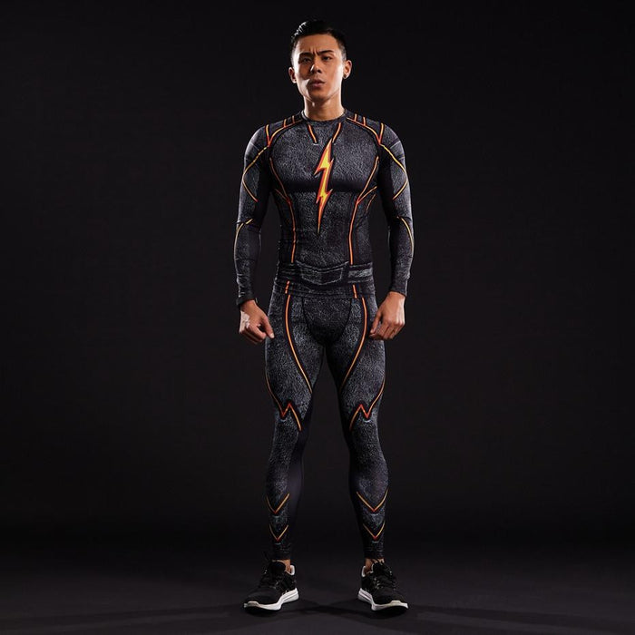 DC The Flash 3D Printed Men Compression Skinny Gym Leggings - Superheroes Gears