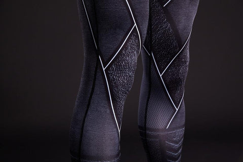 DC The Flash Black Pattern 3D Printed Compression Workout Leggings