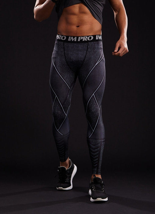 DC The Flash Black Pattern 3D Printed Compression Workout Leggings - Superheroes Gears