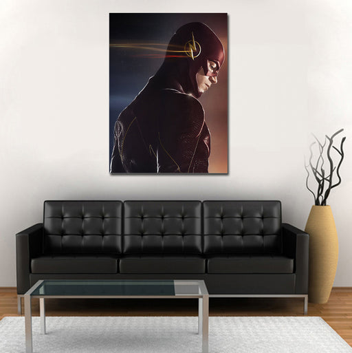 DC The Flash Lightning Logo After Image 1pc Wall Art Canvas