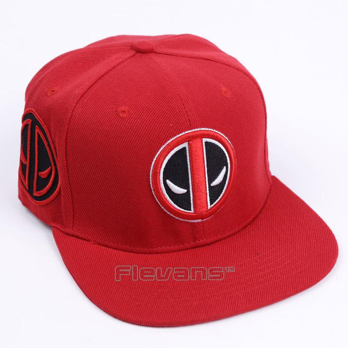 Deadpool Cool Symbol Red Awesome Snapback Baseball Hat Cap - Superheroes Gears