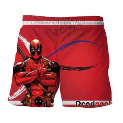 Deadpool Folding His Arms Dope Style Full Print Red Short