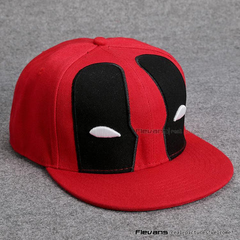 Deadpool Symbol All In Red Cool Snapback Baseball Hat Cap