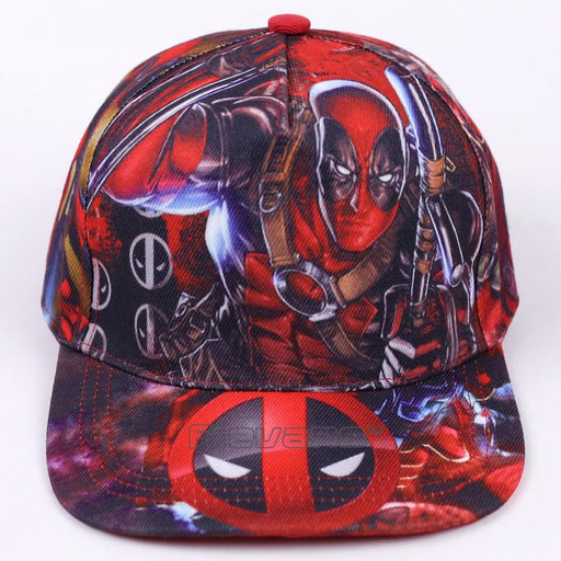 Deadpool Symbol All Style In Red Funky Snapback Baseball Cap - Superheroes  Gears 80a2583c09bb