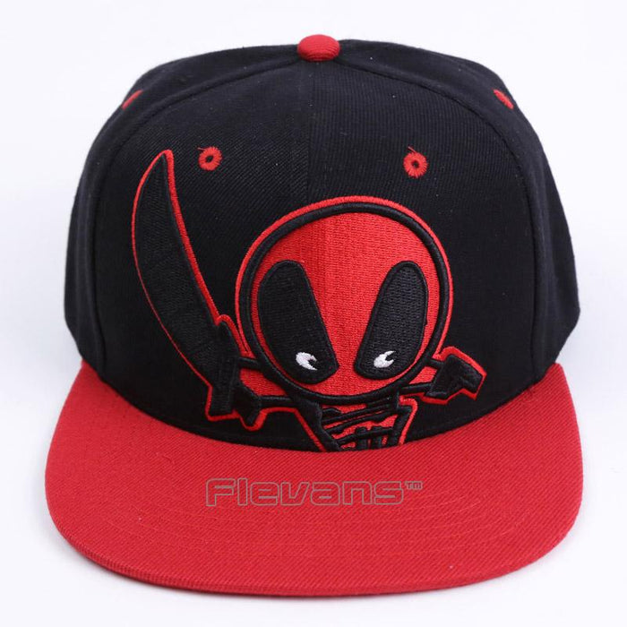 Deadpool Symbol Black Red Awesome Snapback Baseball Hat Cap - Superheroes Gears