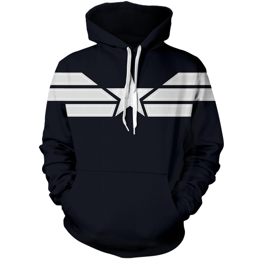 Dope Captain America STRIKE Stealth Uniform Navy Blue Hoodie