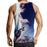 Epic Snow Playful Wolf Pack Design Blue Artwear Tank Top