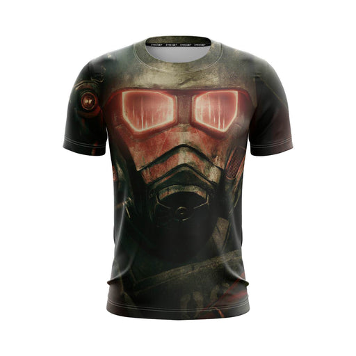 Fallout New Vegas Armored Gas Mask Post-Apocalyptic T-Shirt