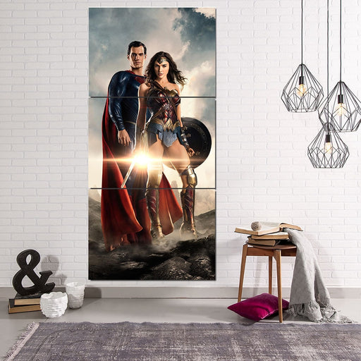 Fantastic Two  Justice League Unique 3pcs Canvas Print