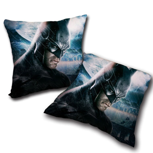 Fierce Batman Face Shot Under The Rain Full Print Pillow