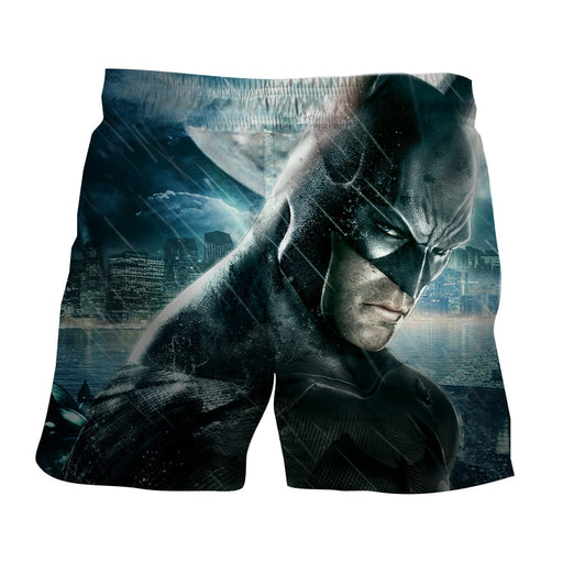 Fierce Batman Face Shot Under The Rain Full Print  Short