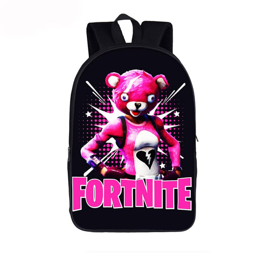 Fortnite Battle Royal Cuddle Team Leader Black Backpack Bag
